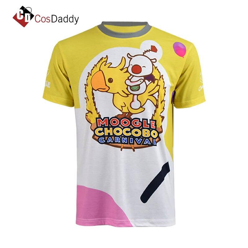Final Fantasy XV FF15 Cosplay Kostüm Lucis Caelum Karneval Noctis T-shirt Moogle Chocobo Hemd Marke CosDaddy