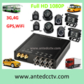 4G/3G WIFI 8 Channel Full HD 1080P HDD Mobile DVR for Vehicles Coach Buses CCTV surveillance System with GPS tracking