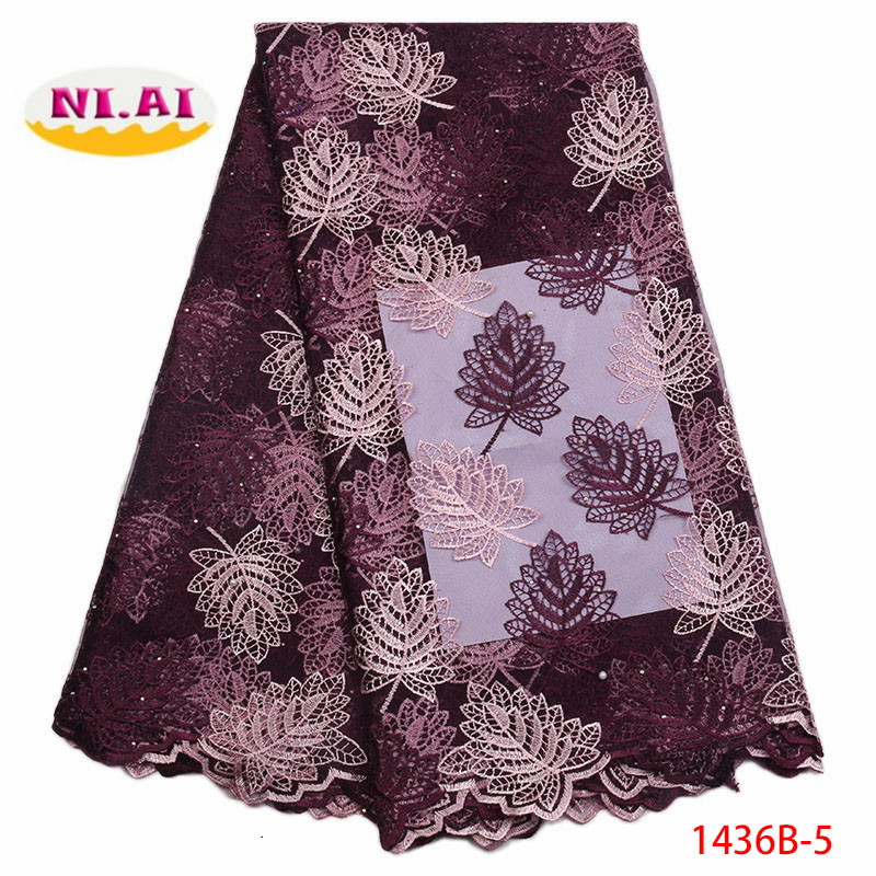 Latest French Nigerian Laces Fabric High Quality Tulle African Laces Fabric Wedding African French Tulle Lace