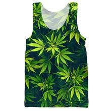 Fashion Men's Clothing Summer Style 3d Weed Leaf Tank Tops Print Hemp Sexy Jersey Bodybuilding Stringer Singlet Sleeveless Shirt