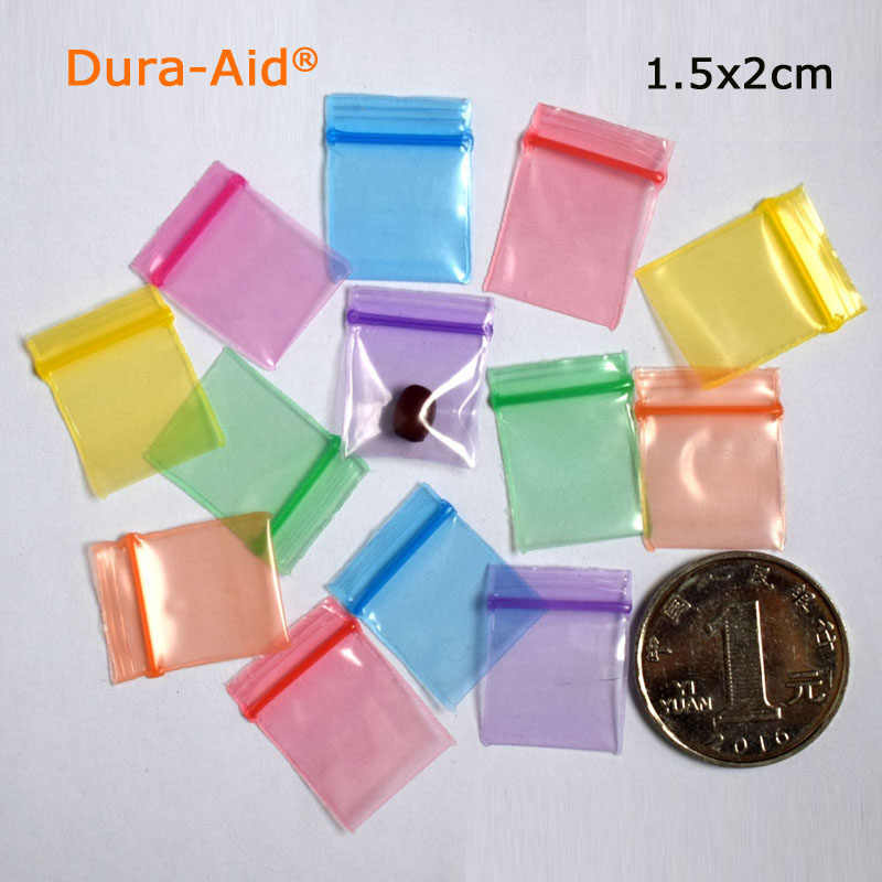1000pcs 2.5x3.5cm different color small size Self Sealing Zip Lock Bags Mini ziplock jewelry pouches Plastic Packaging bags