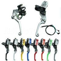 7 8 22mm Motocross Dirt Bike Hydraulic Cylinder Reservoir Brake Clutch Lever For Suzuki RM 85