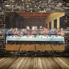 high quality painting handpainted Jesus and his disciples home decor figure oil on canvas for church decora