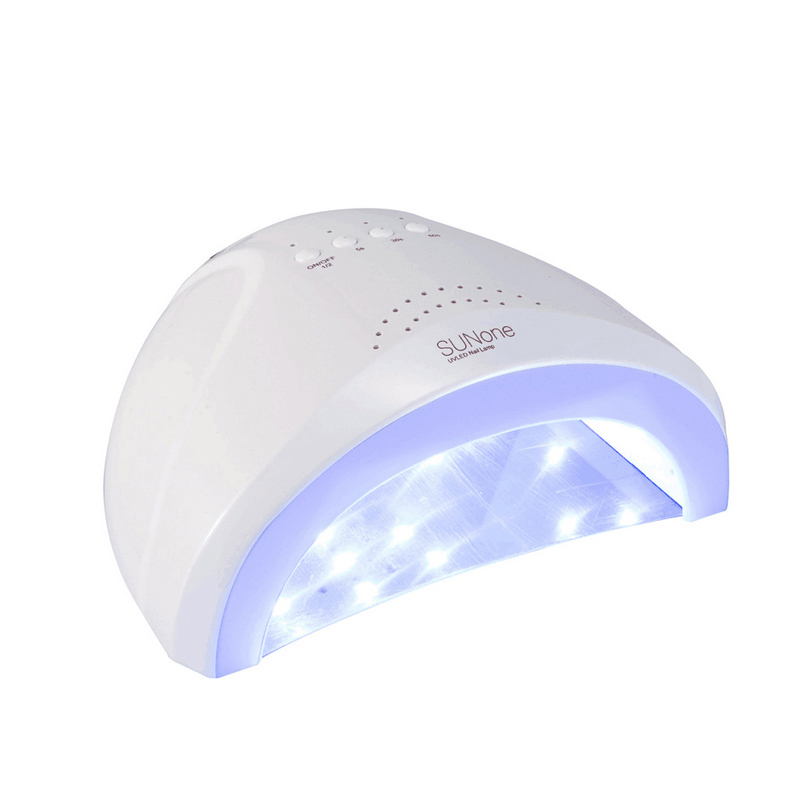 48W/24W SUN ONE LED&UV Lamp For Nail White Light Fast Gel Nail Polish Dryer Fingernail Toenail Curing Nail Art For Salon Tools