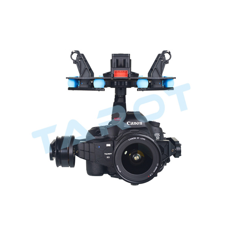 Tarot  FPV 3-axis brushless Gimbal PTZ  Built-in standalone IMU for Canon 5DIII dedicated Multicopter HD Aerial photography hj5208 75t brushless gimbal motor for 5d2 camera fpv aerial photography black