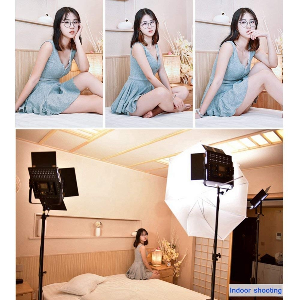 3pcs Pixel K80 Video Lampă de umplere LED 600pcs Becuri 2.4GHz - Camera și fotografia - Fotografie 6