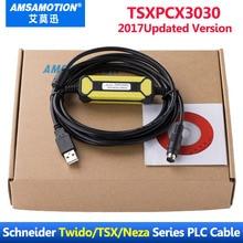 Cable de programación USB TSXPCX3030 C, adecuado Schneider Modicon TSX PCX3030 Series PLC