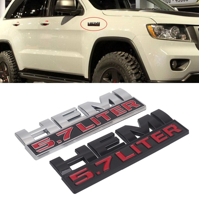 5 7l Hemi Emblem Badge Car Sticker For Dodge Ram Jeep Chrysler