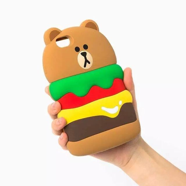 pretty nice 8bb78 3b147 US $3.79  For Iphone 6 6s, 6 6s Plus Phone Case 3D Chips Burger Teddy Bear  Soft Silicone Back Shell Cover on Aliexpress.com   Alibaba Group