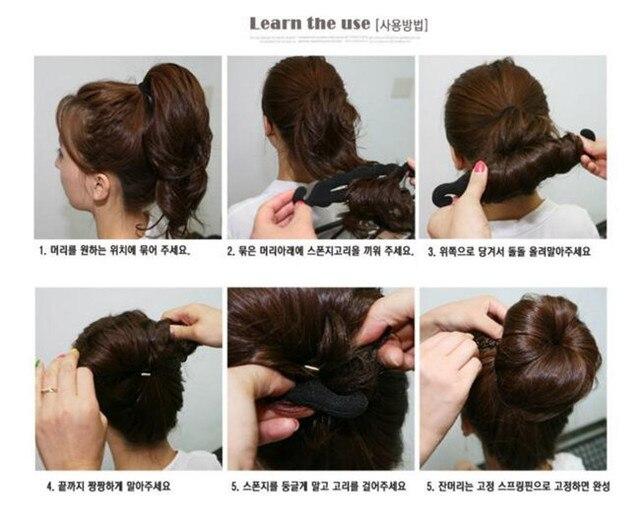 1000pcs!24cm High Quality Women Girl Magic Foam Sponge Hairdisk Donut Quick Messy Bun Updo Headwear Hair Device Hair Accessories 1