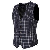 2016 Autumn Winter Style Men Wedding Vests Business Office Suit Vest  New Fashion Men's Vest  Free Shipping