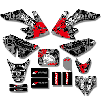 цена на For Honda CRF50 CRF50F CRF 50 50F Decal Sticker Team Graphics Stickers Background Dirt Pit Bike Decals 2004-2009 2010 2011 2012