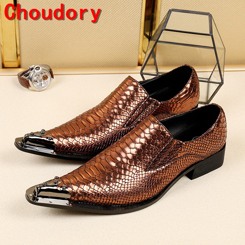 Zobairou mens italian leather shoes pointy steel toe slip on spike loafers crocodile skin leather shoes dress wedding shoes men desai brand italian style full grain leather crocodile design men loafers comfortable slip on moccasin driving shoes size 38 43