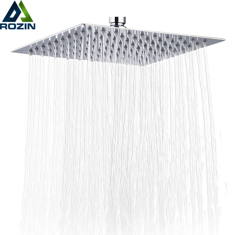 Global Free Shipping 10 inch Rainfall 25cm Squre Shower Head Ultrathin Style Bathroom Showerhead Chrome Finished