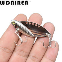 1PCS Metal Spoon Fishing Lure 11g 5.5cm Bass Crank Bait Treble With 2 Hooks VIB Bait Lead Fish Crankbait NE-237