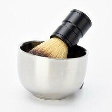 New Arrival Design Stainless steel Shave Shaving Brush Soap Bowl For Razor Barber Shaving Tool M02412