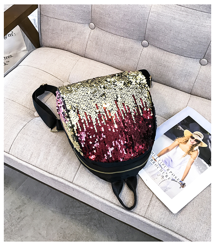 Backpacks women Korean mini 2018 new sequined shell fashion trend women go with small backpacks travel backpack 99