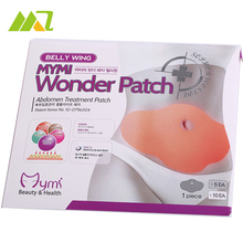 10 PCS/2 Boxes MYMI Wonder Slim Patch Slimming Belly Body Wraps Lose Weight Abdomen Fat Burning Patch Heath Care Production
