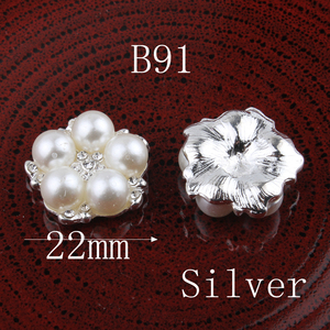 Image 5 - 120PCS Vintage Pentagram/round/flower Metal Rhinestone Buttons Bling Flatback Flower Centre Crystal Buttons for Hair accessories