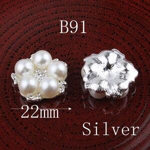 Image 5 - Botones de Metal con estrás, pentagrama Vintage/redondo/Flor, ostentosos botones de cristal para accesorios para el cabello, 120 Uds.