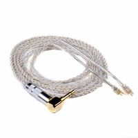 Upgrade Replacement Headphone Hand Woven Extension Earphone Cable Double For Westone W4r Um3x Es3 Plated Silver