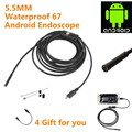DATA HOT ! camcorder 5M 5.5mm Endoscope Waterproof Borescope Inspection mini Camera 6 LED For Andorid Phone For huawei mar25