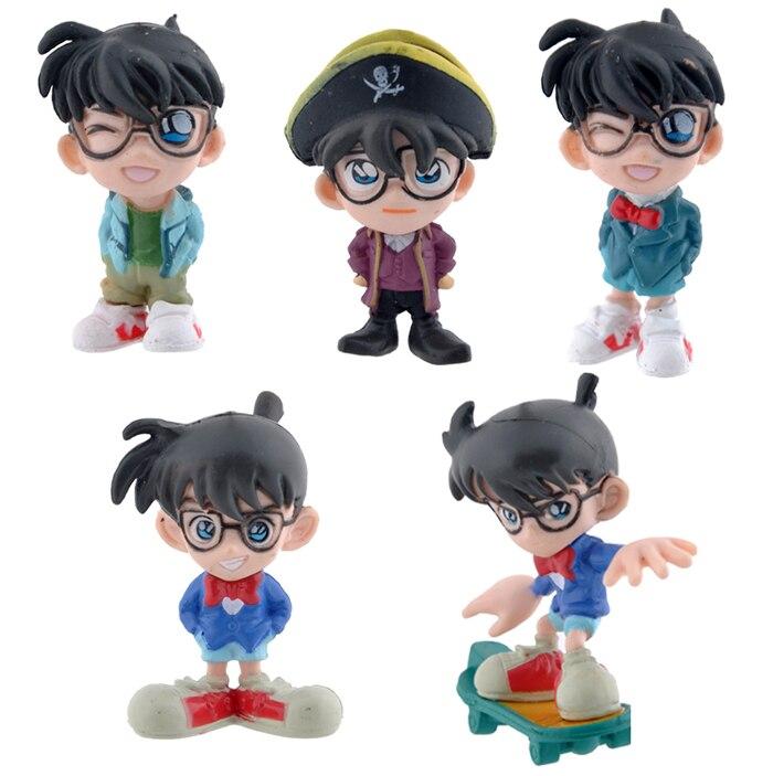 5 teile/satz 5 cm Conan Action-figuren Anime PVC brinquedos Sammlung Figuren spielzeug...