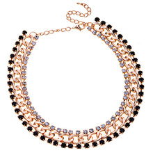 Lureme New Design Luxury Jewelry Crystals Claw Chain Statement Big Necklace For Noble womens Best Gift
