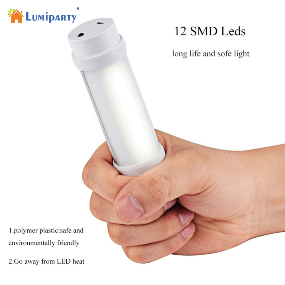 Lumiparty 100 Lumens Rechargeable 4 Modes Multifunction Portable Rechargeable LED Light Outdoor Hiking Fishing Reading Camping