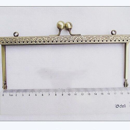 19cm Vintage Bronze Color Straight Metal Purse Clasp Frame Bag Accessories Mouth Golden 3pcs/lot