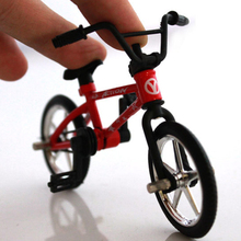 2019 12.5*9*4.5cm Creative BMX Toys Alloy Finger BMX Functional Kids Bicycle Finger Bike Mini Finger bmx bike toys Gift mini finger bmx bicycle flick trix finger bikes toys bmx bicycle model bike tech deck gadgets novelty gag toys for kids gifts