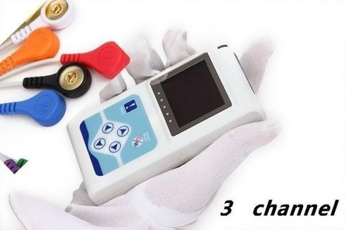Contec Manufacturer shipping NEW 3 Channels ECG Holter, EKG Holter, ECG Monitor System,24 hours ECG Recorder TLC9803 buy holter monitor