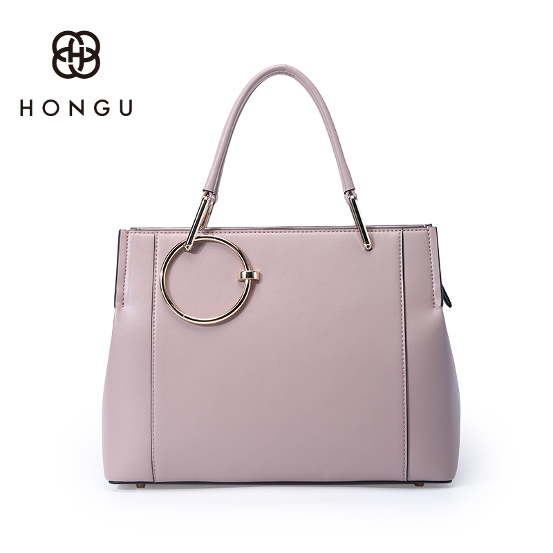 Hongu Genuine Leather Ring Tote Luxury Handbags Women Bag Designer Women Famous Brand Lady Shoulder Louis Bags Bolsos mujer laorentou luxury genuine leather women handbags crossbody bags for women brand designer tote bag new trend color lady bag n56