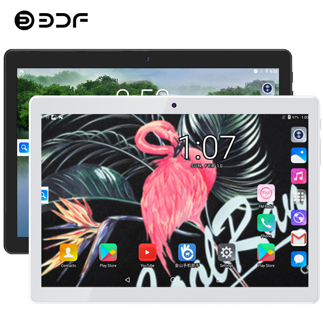 Spain Warehouse Ship BDF 10 Inch Android 7.0 Tablet Pc 4GB RAM+64GB ROM Mobile Phone Call Octa Core WiFi FM IPS 4G LTE Tablets
