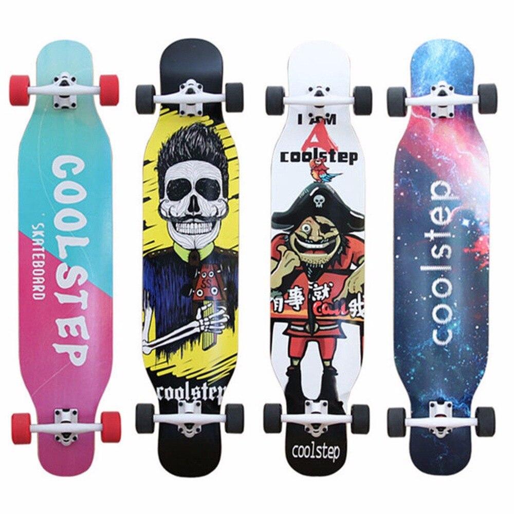 COOLSTEP danse complète longue planche à roulettes descente Longboard Deck Freestyle Street Road Skate Longboard 4 roues