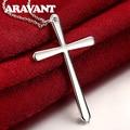 925 silber Kreuz Anhänger Halskette Kette Für Frauen Männer Party Silber Halsketten Schmuck