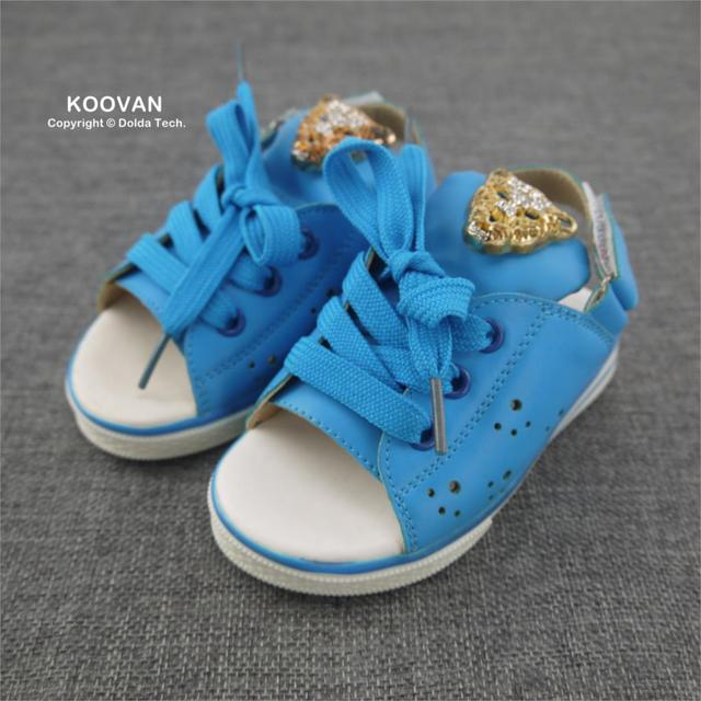 2016 Summer Style Children's Sandals Shoes White Yellow Color Rivet Female Child Girls Princess Kids Sandal 21-25