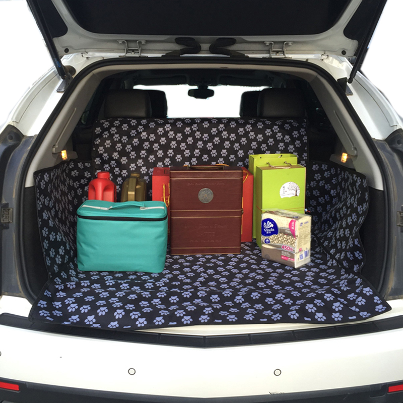 Car Trunk Mat Pet Back Covers Waterproof Pad For Pet Dog Cat Organizers Cushion With SUV Cargo Liner Protector Paw Car-Styling areyourshop auto cargo mat boot liner tray rear trunk sticker dog pet covers for kia soul 2009 2010 2013 car covers