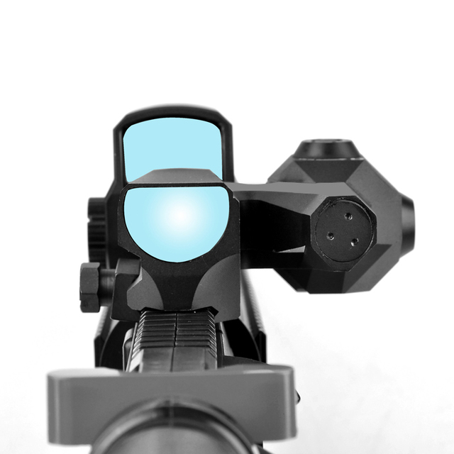 D-EVO Dual-Enhanced View Optic Reticle Rifle Scope Magnifier with LCO Red Dot Sight Reflex Sight Rifle Sights