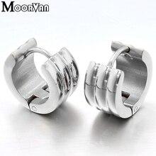 Moorvan серьги в стиле хип-хоп обручи ухо круглые из нержавеющей стали для мужчин ювелирные изделия VE417
