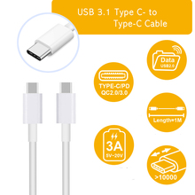USB Type C to USB C Cable USB 3.1 Type C To Type-C Fast Charging Data Sync Mobile Phone Cable For Macbook Samsung Xiaomi Huawei huawei 1m usb type c to type a charge and sync cable
