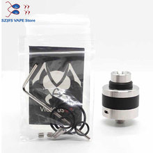 new arrival vape apex rda with bf pin 316ss atormizer 22MM diameter Electronic Cigarette for Vapor 510 Mod vs goon 1.5/King RDTA free gift original digiflavor drop solo rda single coil 22mm with two caps standard 510 and bf squonk 510 pin deep base