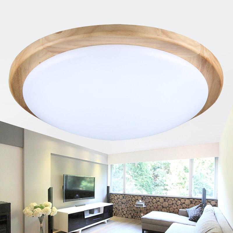 Moderne minimalistische led massivholz schlafzimmer, deckenleuchte ...