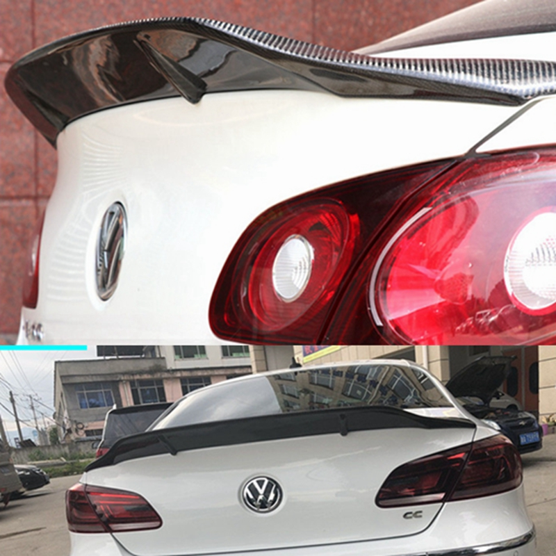 R Style Carbon fiber rear roof spoiler lip wings for Volkswagen VW Passat CC Sandard 2009 2018