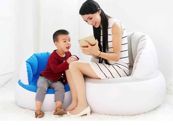 Cool Flocking Inflatable Sofa Foldable Children And Adults Both Machost Co Dining Chair Design Ideas Machostcouk