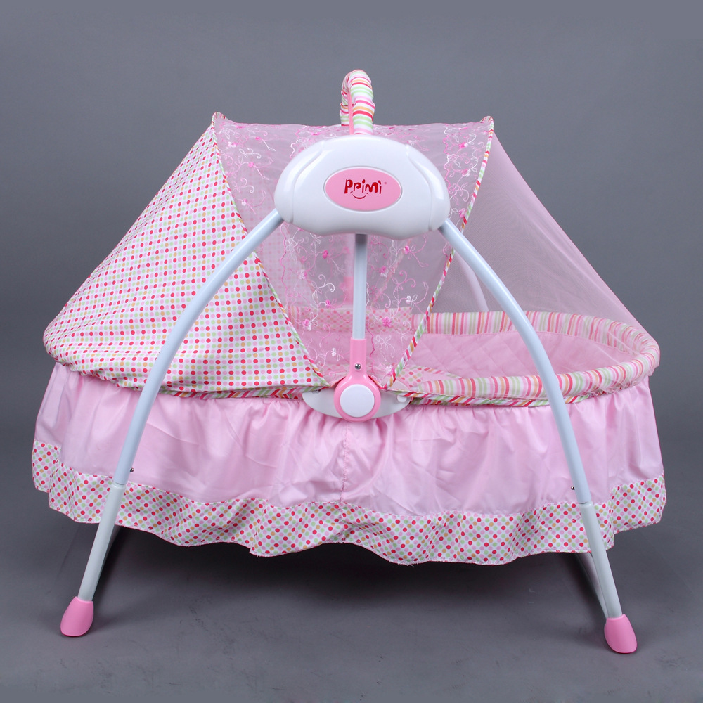 Multi-function Baby Electric Cradle Newborn Portable Foldable Crib Rocking Bed Electric Newborn Cradle Swing Bed Adjustable 0~6M