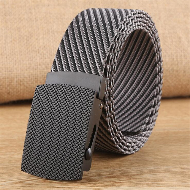 LannyQveen cinturón de nailon de moda cinturón táctico para hombres cinturón militar de lona al aire libre para hombres de calidad