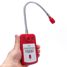 цена на Sensitive Useful Gas Analyzer Combustible Gas Detector Portable Gas Leak Location Determine Tester with Sound-light Alarm