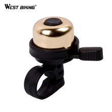 WEST BIKING Bike Bicycle Bells Copper Senior Bell Mountain Bike Road Accessories Warning Tools Ring Bike Bicycle Cycling Bell(China)