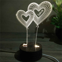 Creative 3D Bedroom Lights LED Night Lamp USB Table Desk Lamps Night Lights Novelty Home Decor Unique